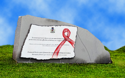 giornata-mondiale-contro-violenza-donne-lapide-nicolosi-giordana-di-stefano-femminicidio