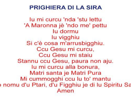 Preghiera della sera in siciliano